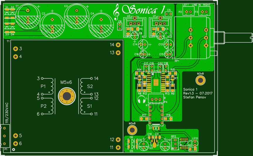 Sonica 1 – Headphone Amplifier With TPA6120A Part I – Schematic And PCB Design